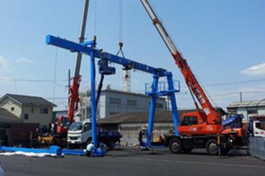 大型荷役機械の据付・輸送事例 クレーン製造メーカー N社様