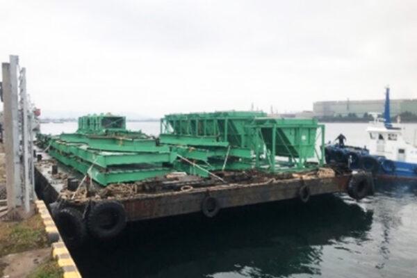 指定メーカー岸壁迄の海上輸送